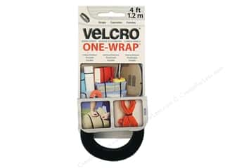 Velcro / Hook & Loop Tape Velcro Straps / Hook & Loop Tape Straps: Velcro One Wrap Strap 3/4 in. x 4 ft. Black