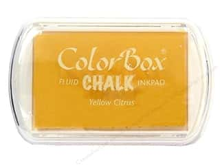 Pads Height: ColorBox Fluid Chalk Inkpad Full Size Yellow Citrus