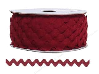 "Cheep Trims Ric Rac 11/16"": Ric Rac by Cheep Trims  11/16 in. Wine (24 yards)"