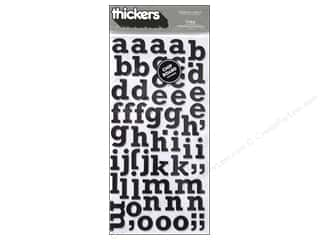 Thickers Alphabet Stickers Chipboard Typo Black