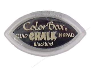 Chalk Black: ColorBox Fluid Chalk Inkpad Cat's Eye Blackbird