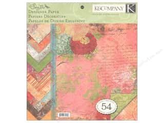 K&amp;Co Paper Pad 12x12 Que Sera Sera Designer