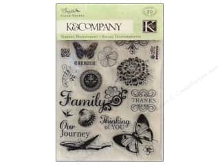 K&amp;Co Clear Stamps Que Sera Sera
