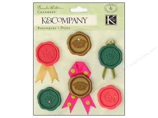 K & Company Dimensional Stickers: K&Company Sticker Charmers Wax Seals Madeline