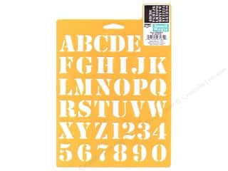 School Length: Delta Alphabet Stencil Mania 7 x 10 in. Basic