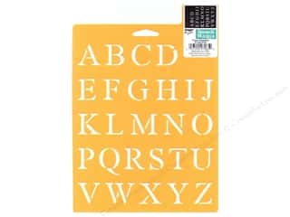 School Length: Delta Stencil Mania 7 x 10 in. Alphabet Times