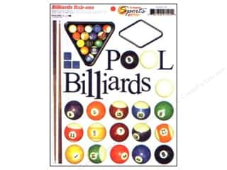 Sports: Scrappin Sports Rub Ons Billiards