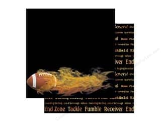 Scrappin Sports Paper 12x12 Football on Fire (25 sheets)