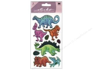 "Stickers 24"": EK Sticko Stickers Metallic Dinos"