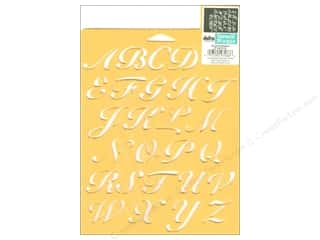 Stenciling Back To School: Delta Alphabet Stencil Mania 7 x 10 in. Script