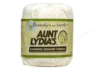 Weekly Specials Aunt Lydias Bamboo Crochet Thread Size 10: Aunt Lydia's Bamboo Crochet Thread Size 10 White