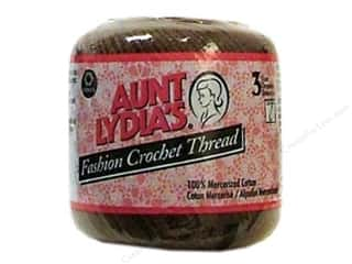 Yarn & Needlework Brown: Aunt Lydia's Fashion Crochet Thread Size 3 #365 Coffee