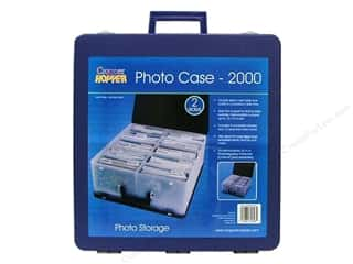 Organizer Containers: Cropper Hopper Photo Case Large Clear/Blue
