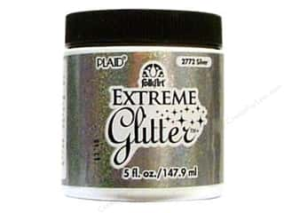 Plaid Basic Components: Plaid FolkArt Extreme Glitter Paint 5oz Silver