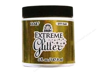 Plaid Basic Components: Plaid FolkArt Extreme Glitter Paint 5oz Gold