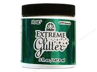 Brandtastic Sale Plaid FolkArt: Plaid FolkArt Extreme Glitter Paint 5oz Emerald
