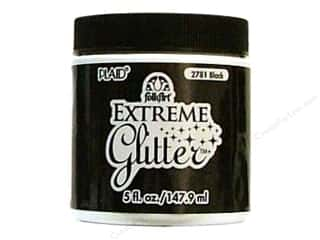 Plaid Basic Components: Plaid FolkArt Extreme Glitter Paint 5oz Black