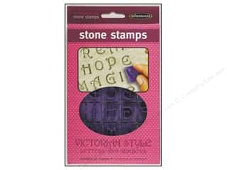 Clearance Blumenthal Favorite Findings: Milestones Stone Stamps Alpha/Num Victorian