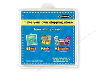 "Gardening & Patio: Milestones Stepping Stone Mold 11"" Square"