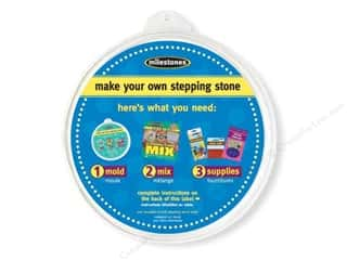 "Outdoor, Patio, Garden Molds: Milestones Stepping Stone Mold 12"" Round"
