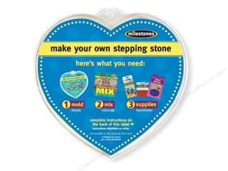 "Outdoor, Patio, Garden: Milestones Stepping Stone Mold 12"" Heart"