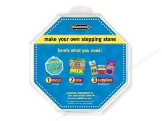 "Outdoor, Patio, Garden: Milestones Stepping Stone Mold 12"" Octagon"