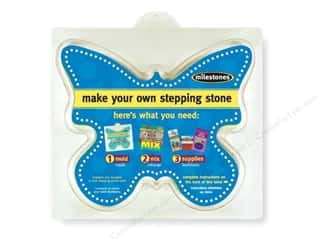 "Outdoor, Patio, Garden Molds: Milestones Stepping Stone Mold 12"" Butterfly"
