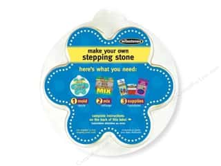 "Milestones Milestones Kit Stepping Stone: Milestones Stepping Stone Mold 12"" Flower"