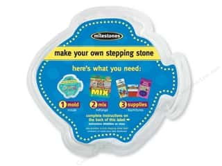 "Milestones Milestones Kit Stepping Stone: Milestones Stepping Stone Mold 12"" Fish"