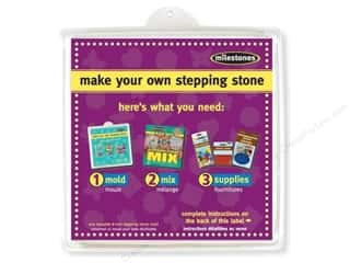 "Outdoor, Patio, Garden: Milestones Stepping Stone Mold 8"" Square"