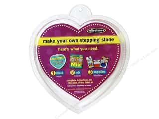 "Outdoor, Patio, Garden Molds: Milestones Stepping Stone Mold 8"" Heart"