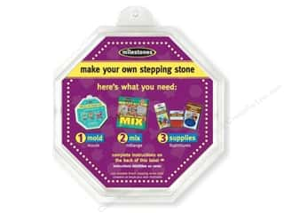 "Outdoor, Patio, Garden Christmas: Milestones Stepping Stone Mold 8"" Octagon"