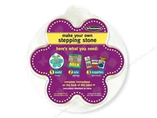 "Outdoor, Patio, Garden Molds: Milestones Stepping Stone Mold 8"" Flower"