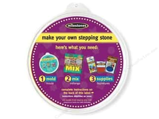 "Outdoor, Patio, Garden Christmas: Milestones Stepping Stone Mold 8"" Round"