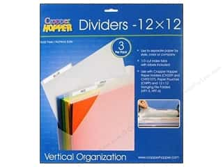 "Organizer Containers: Cropper Hopper Vertical Org Dividers 12""x 12"" 3pc"