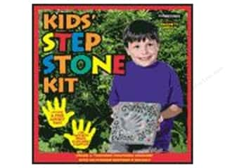 "Outdoor, Patio, Garden 24"": Milestones Kit Stepping Stone Kids Square 8"""