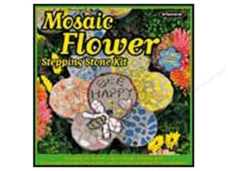 "Outdoor, Patio, Garden 24"": Milestones Kit Stepping Stone Mosaic Flower 12"""