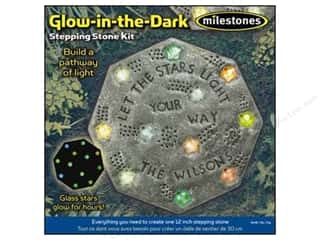 Milestones Kit Stepping Stone Glow/Dark Octagn 12""