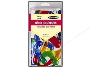 "Outdoor, Patio, Garden 24"": Milestones Decoration Value Pack Glass Squiggles"