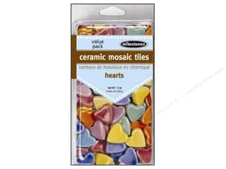 Outdoor, Patio, Garden: Milestones Decoration Value Pack Ceramic Mosaic Tiles Heart