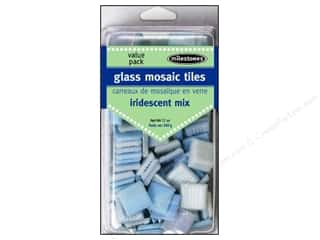 Milestones Decoration Value Pack Glass Tiles Iridescent Light
