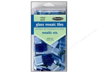 Milestones Decoration Value Pack Glass Tiles Metallic Cool