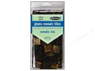 Floral & Garden Glass: Milestones Decoration Value Pack Glass Tiles Metallic Warm