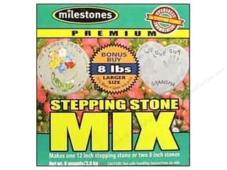 Outdoor, Patio, Garden: Milestones Premium Stepping Stone Mix 8 lb Box