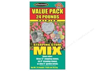 "Outdoor, Patio, Garden 24"": Milestones Premium Stepping Stone Mix 24 lb Box"