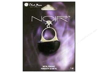 Blue Moon Pendant Noir Metal Ring Black