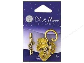 Blue Moon Beads Toggle Clasps with Leaf 5 pc. Gold Plated