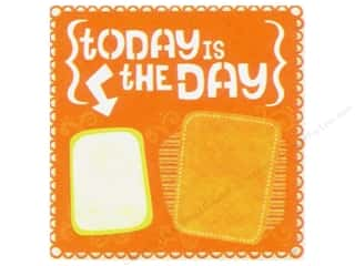 Making Memories Height: K&Company Paper 12x12 Citronella Die Cut Today (12 sheets)