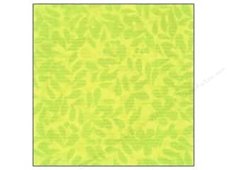 Clearance Blumenthal Favorite Findings: K&Co Paper 12x12 Citronella Green Leaves (25 sheets)