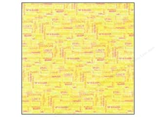 Clearance Blumenthal Favorite Findings: K&Co Paper 12x12 Citronella Foil Words (12 sheets)